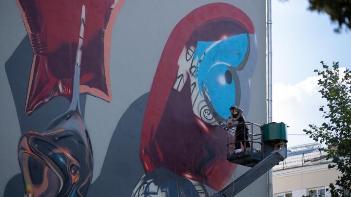 Как создавалось искусство: 25 впечатляющих фотографий с фестиваля«Стенограффия» в Екатеринбурге