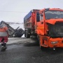 На трассе в Самарской области КАМАЗ протаранил Daewoo