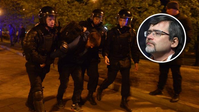 Самые жесткие задержания были 15 мая. Гендиректор ВЦИОМ Валерий Федоров сказал, что люди протестовали вовсе не из-за забора