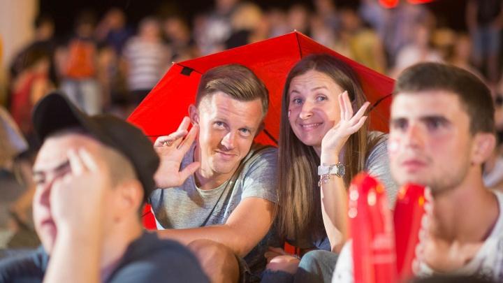 На фестивале болельщиков в Волгограде впервые потребовались зонтики