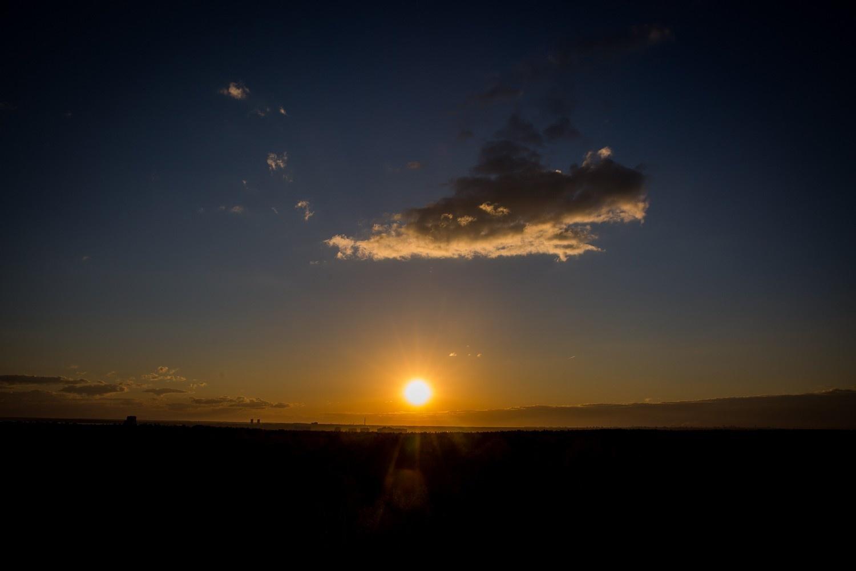 Закат 8 мая —вид из обсерватории