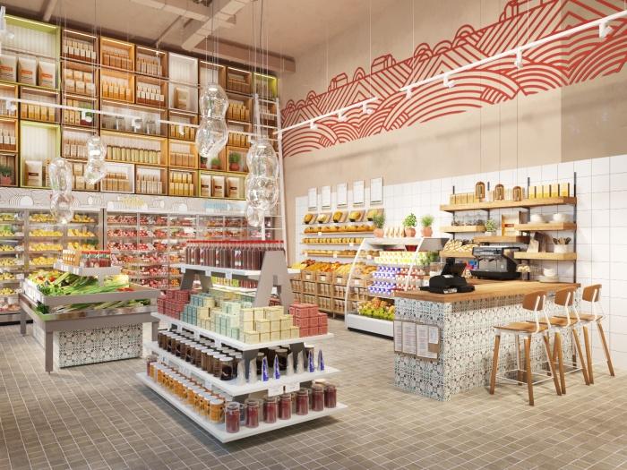 В офлайн-магазине можно будет не только купить свежие продукты, но и узнать, где и как они были выращены
