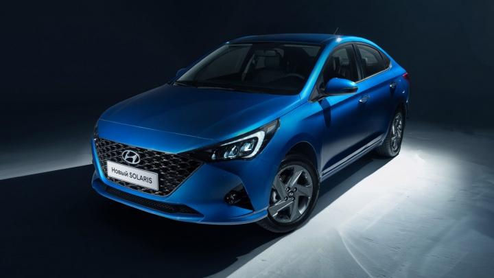 Обновлённый Hyundai Solaris раскрыли до премьеры: ячеистая решётка и огромный мультимедиа-экран