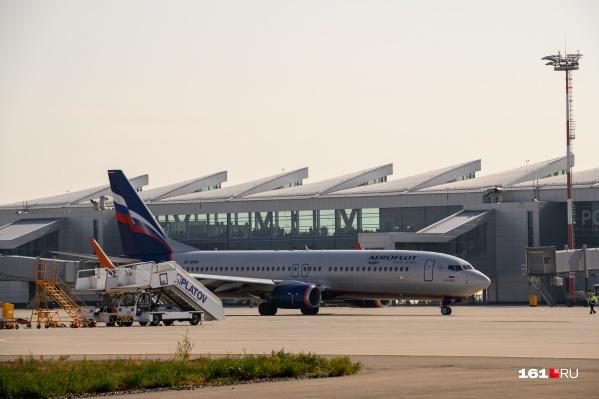 Багаж забыли погрузить в самолет до Ростова