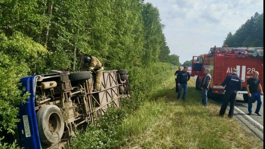 Прокуратура Зауралья закончила проверку перевозчика, чей автобус перевернулся на трассе