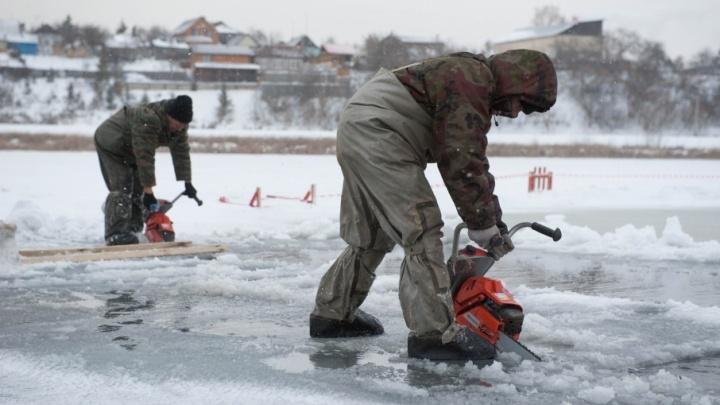 На реках Уфы распиливают лёд: в мэрии рассказали о подготовке к паводку