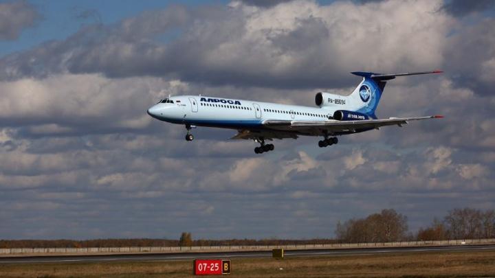 Ему памятник можно ставить: в Толмачёво прилетел легендарный Ту-154, переживший катастрофу в тайге