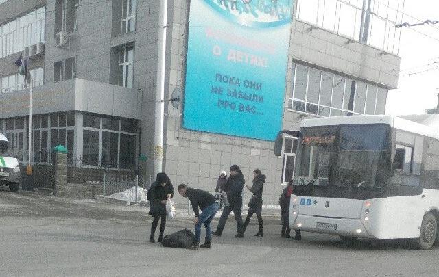 В Уфе автобус сбил мужчину
