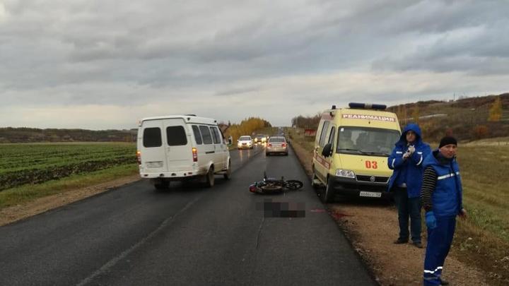 В Башкирии байкер без прав устроил ДТП и погиб