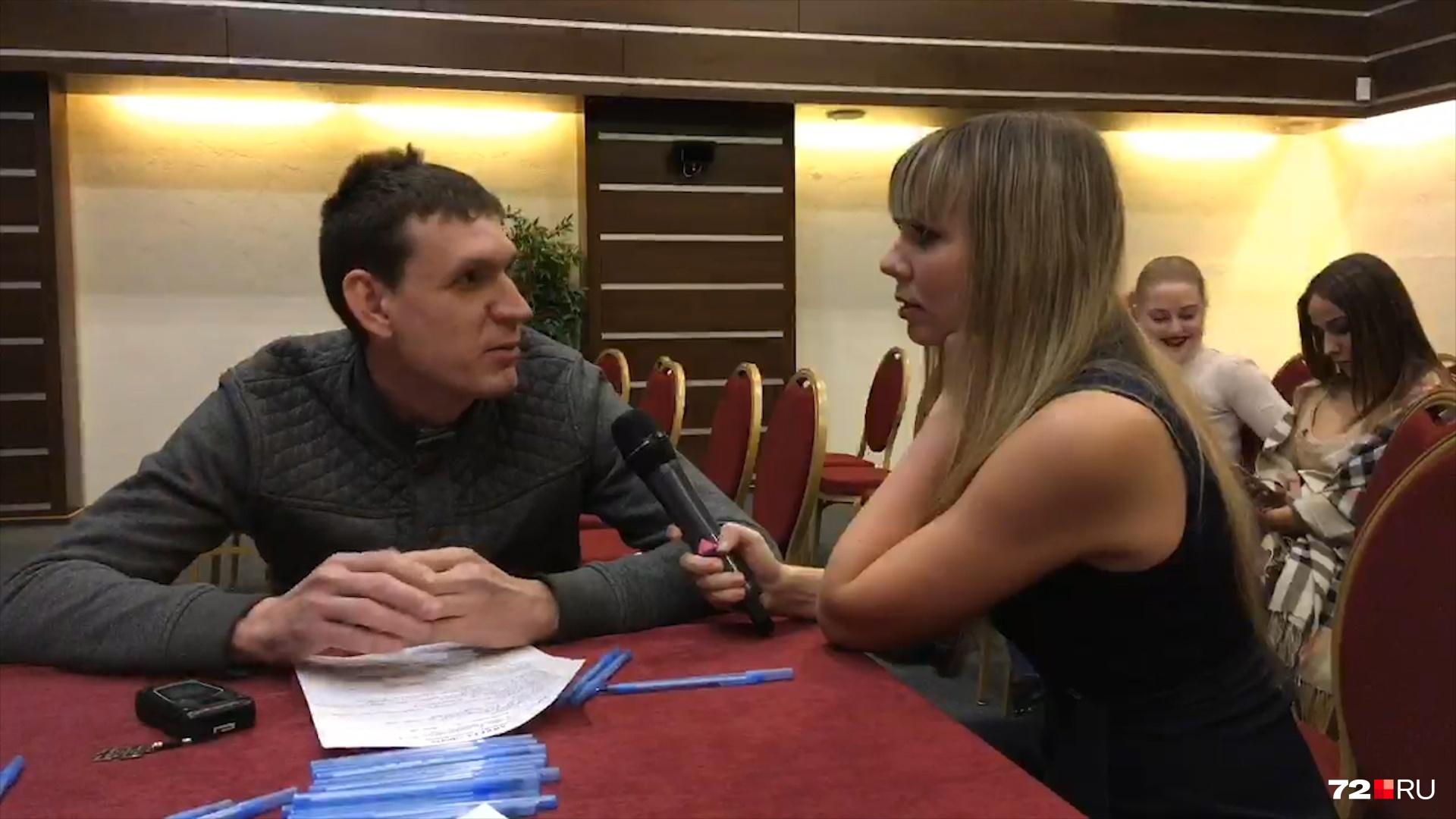 Иван Куприн рассказал журналисту 72.ru, что своим участием в телепроекте он хочет решить сразу две задачи