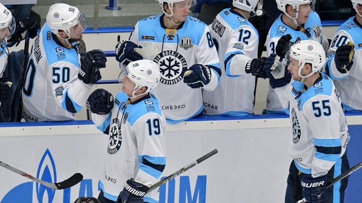Хоккей: «Сибирь» проиграла питерскому СКА