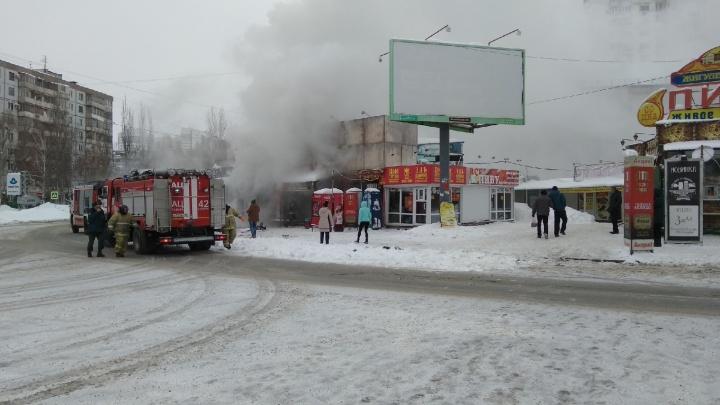 На улицеЗои Космодемьянской сгорело кафе
