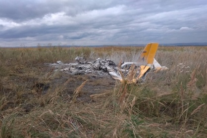 Пилот погиб на месте, ему было 65 лет