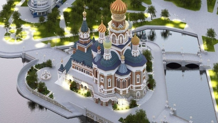 Мэрия выложила проект создания искусственного острова для строительства собора Святой Екатерины