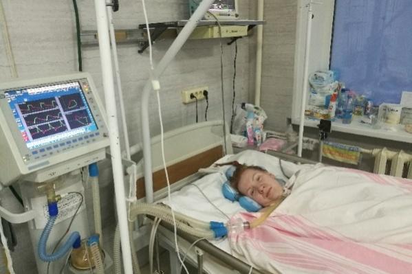 Сейчас Ольга Кошмар дышит под аппаратом ИВЛ