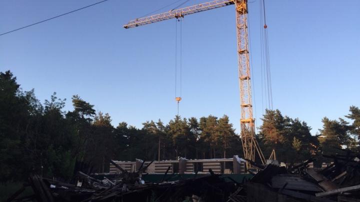 В Ярославле на месте спалённых бараков появилась стройка