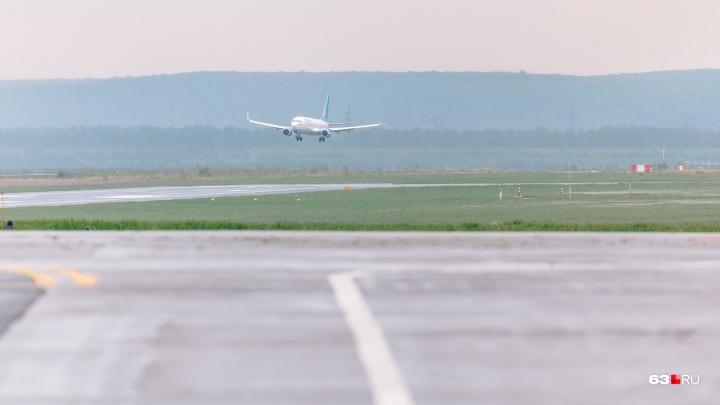 Случился приступ: в Самаре экстренно сел самолет из Узбекистана