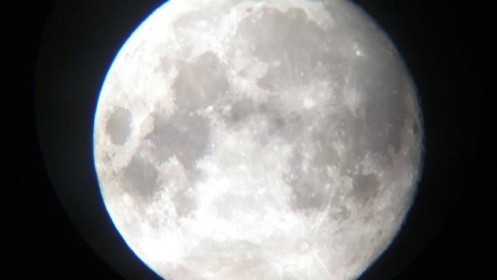 Видеотрансляция лунного затмения в Омске