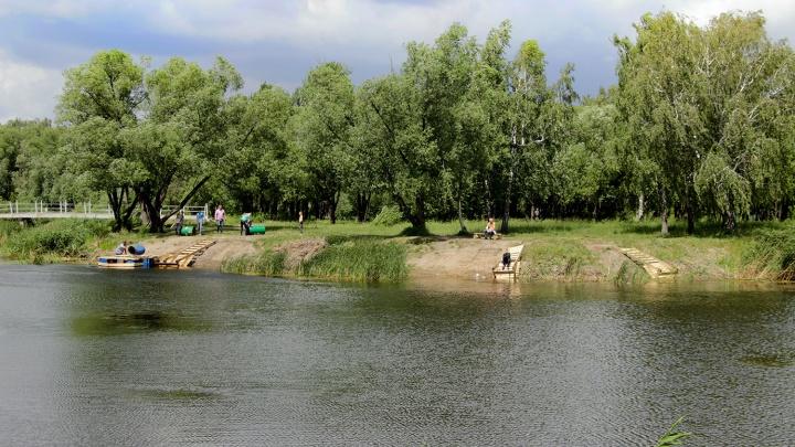 Омичи в парке сбросили в озеро три скамейки и четыре урны