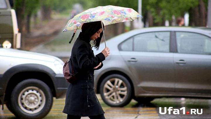 В Башкирии синоптики прогнозируют дожди с градом