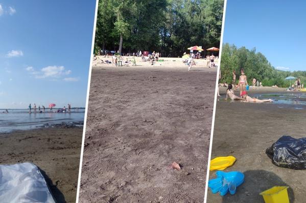Площадь пляжа на Красной Глинке значительно увеличилась
