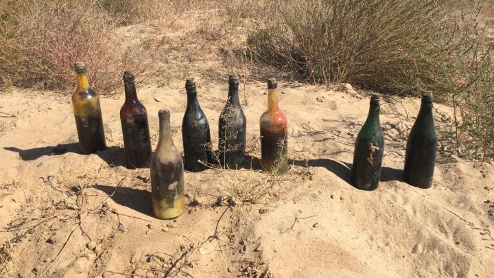 Под Волгоградом уничтожили бутылки с коктейлем Молотова