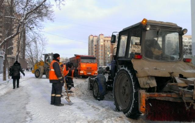 В Уфе опубликован график очистки дворов