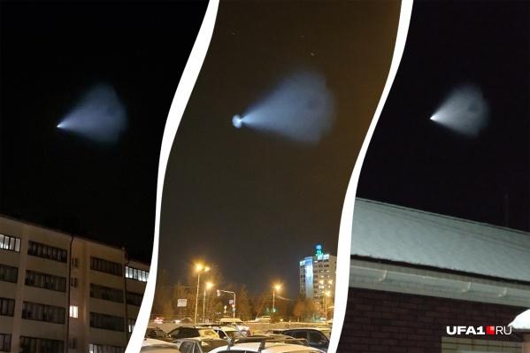 Кому-то удалось снять ракету четче и ближе, но все очевидцы из Башкирии засекли примерно одно и то же