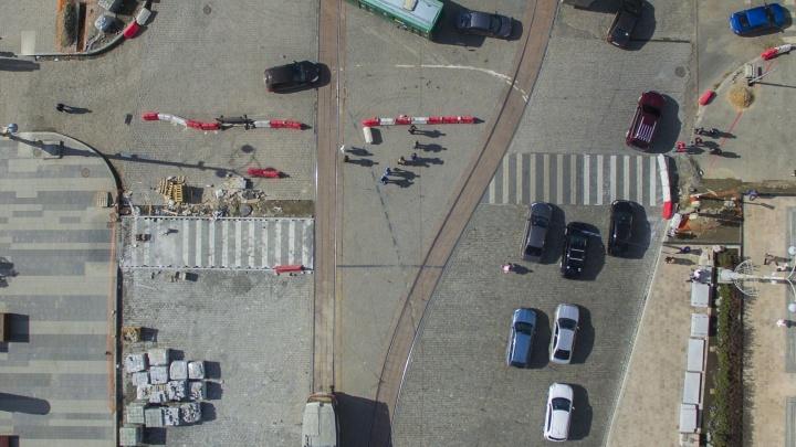 Ад перфекциониста: половинки пешеходного перехода на Ленина построили в разных местах