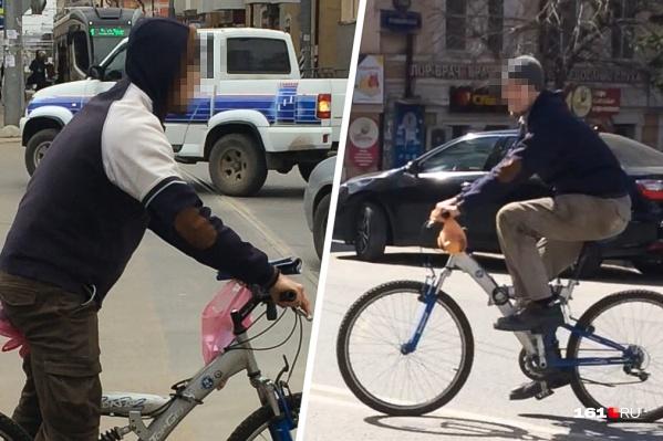 Незнакомец ездил на велосипеде там, где Елена гуляла с детьми