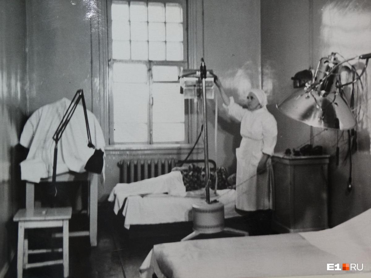 Медицинский блок на Свердловской ГЭС в пятидесятые годы XX века