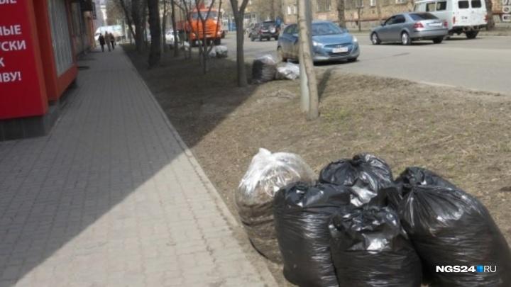 В Красноярске началась весенняя уборка города