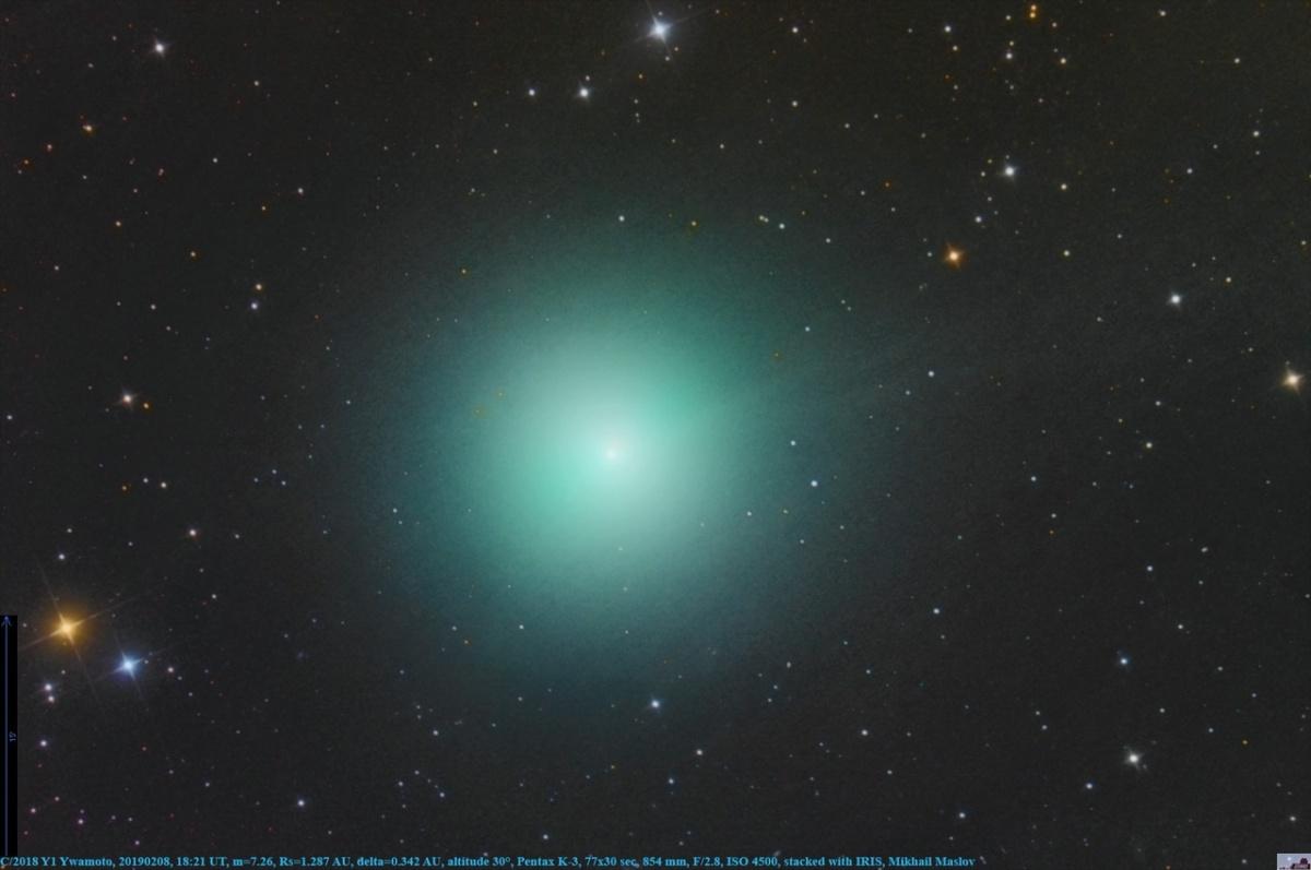 Михаил Маслов снимал комету за 100 километров от Новосибирска, чтобы ему не мешала городская засветка