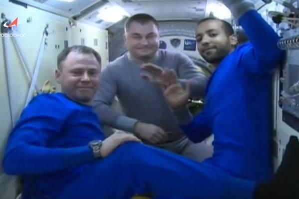 На борту«Союза МС-12» находились трое членов экипажа