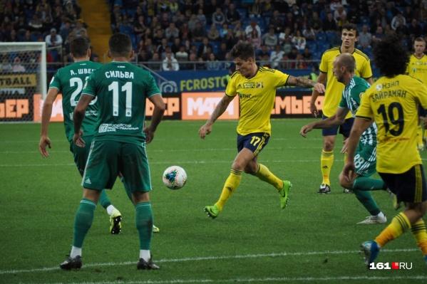 Ростовчане одержали победу со счетом 2:1