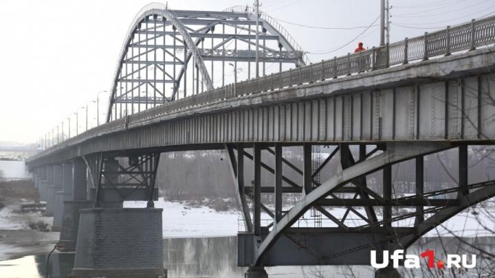 Ограничение движения по старому бельскому мосту в Уфе продлили
