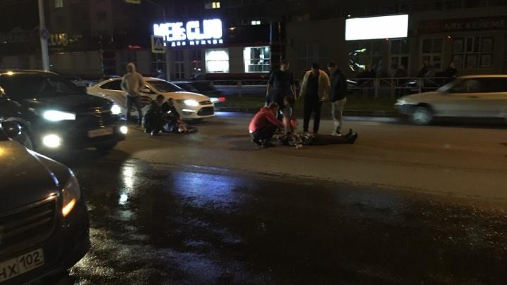 «Сильно превышал скорость»: водитель легковушки сбил двух пешеходов в Стерлитамаке