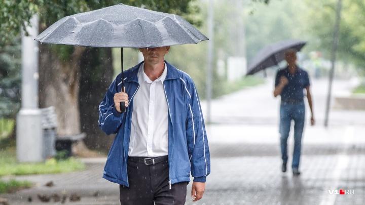В Волгоградскую область идут грозовые ливни с градом и сильный шторм
