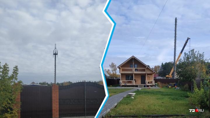 Жителей Верхнего Бора возмутило строительство вышки сотовой связи на участке соседа