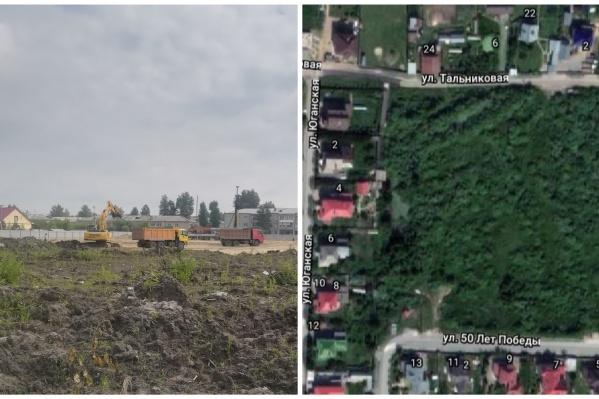 Стройка развернулась на месте этого зеленого участка. Через несколько лет вместо деревьев здесь будут новостройки