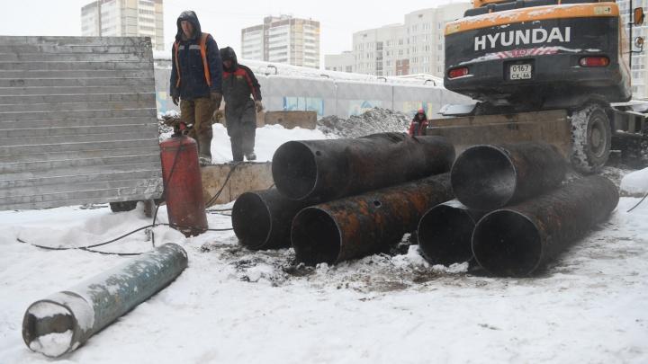 В Екатеринбурге начали перекладывать теплосети, не дожидаясь весны