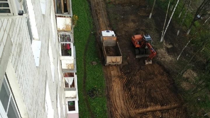 «Вырубили все деревья»: в Ярославле на Тутаевском шоссе построят дорогу-дублёр