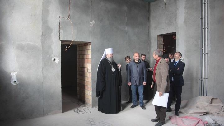 До конца 2019 года строящийся собор в Архангельске должны подсветить