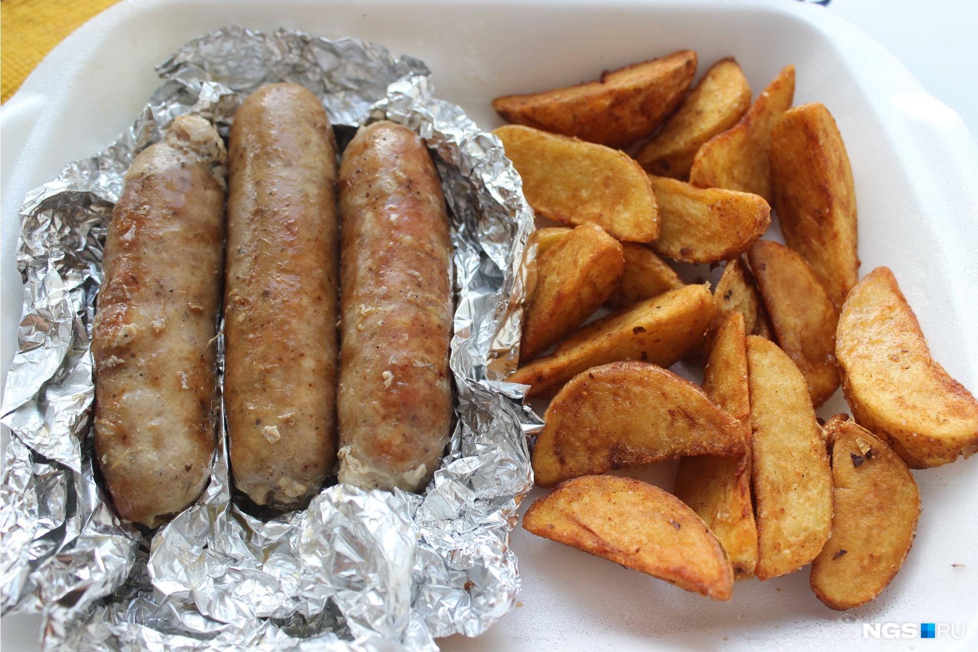 «Швабские» колбаски с картофельными дольками (200 рублей)