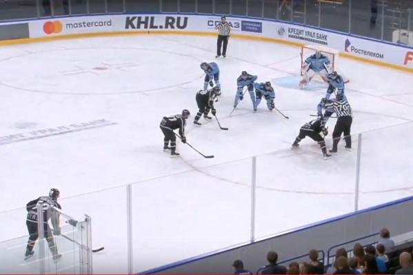 ХК «Сибирь» удалось забить одну шайбу