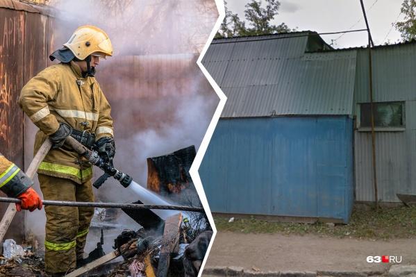 Пламя тушили 26 человек