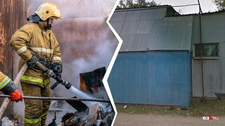 В Самаре с пожара на Черемшанской в больницу увезли двух человек