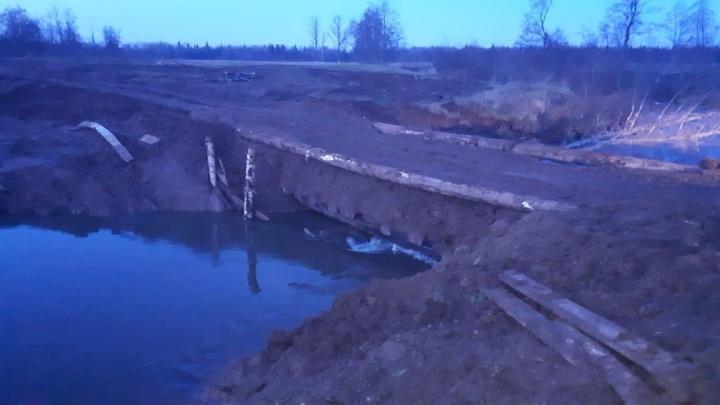 В Башкирии восстановили разрушенный мост