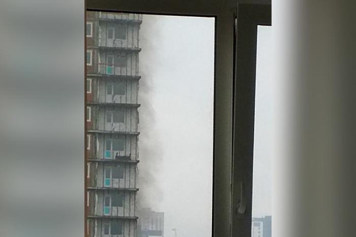 Пожар произошёл на территории строящегося ЖК «Покровский»