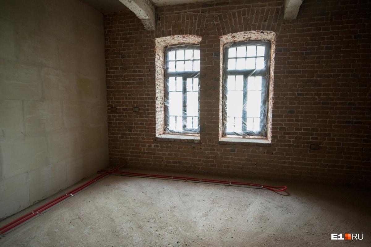 В апартаментах будет виден исторический кирпич